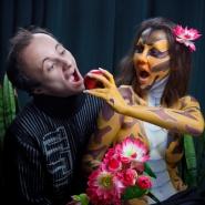 После съемок: фотограф Илья Моисеев с моделью Евгенией Еськовой