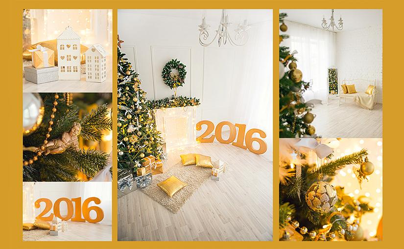 Новогодняя фотосессия в фотостудии Волгограда